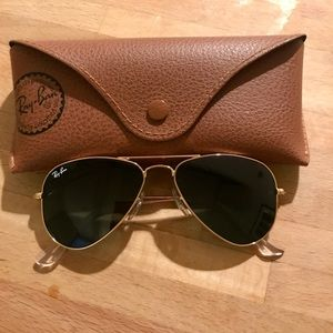 WORN ONCE! Authentic Ray Ban Small Aviators $158